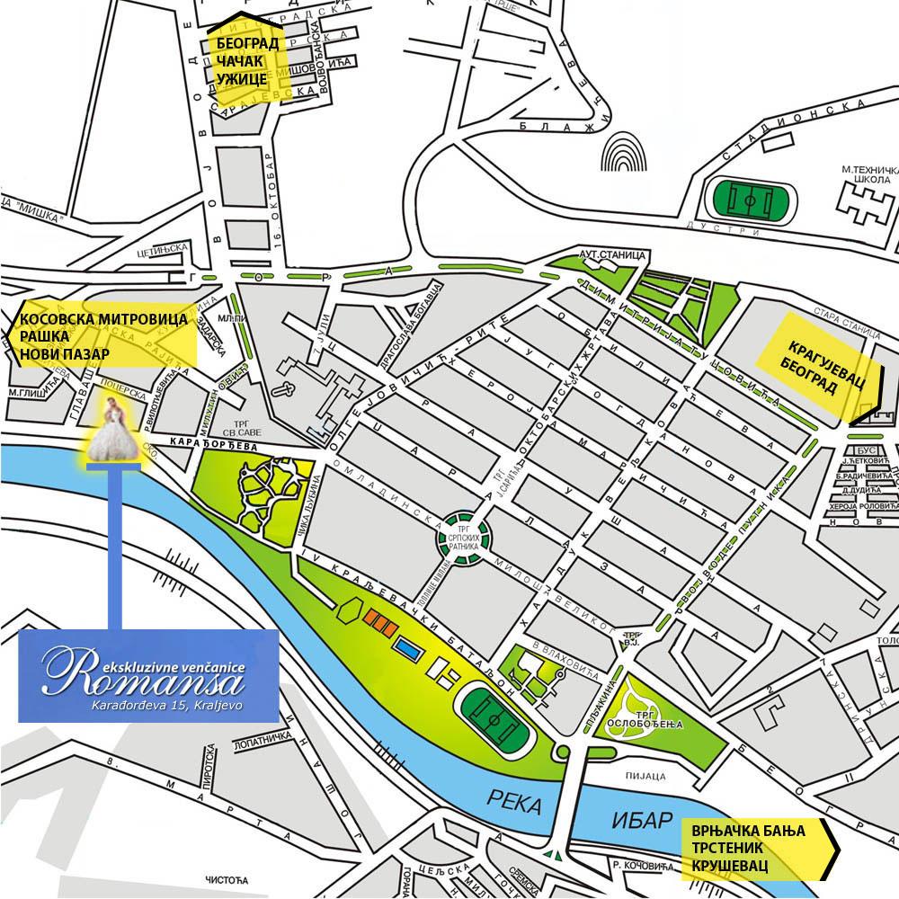 Vencanice Romansa Salon Vencanica Kraljevo Mapa Grada